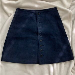 Vintage leather skater skirt